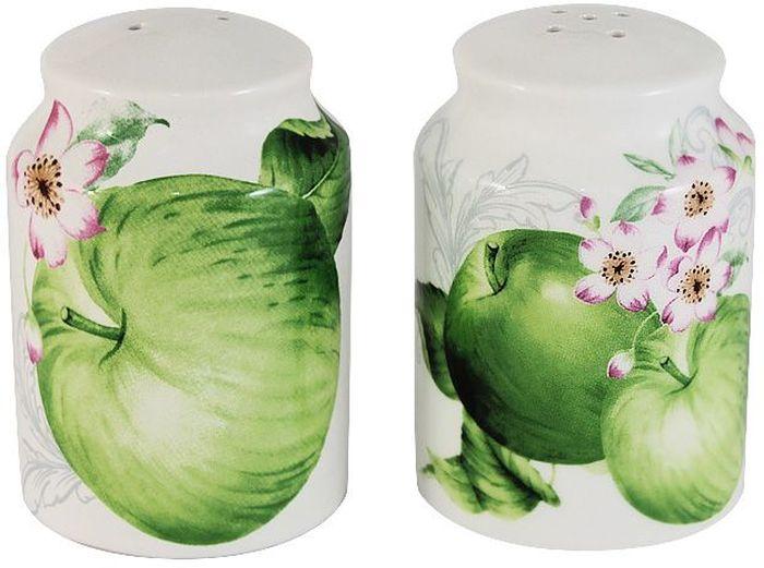 Набор для специй Imari Зеленые яблоки, 2 предметаFD-59Набор для специй Imari Зеленые яблоки состоит из солонки и перечницы. Емкости выполнены из высококачественной керамики, основным ингредиентом которой является твердый доломит. Изделия легкие, белоснежные, прочные и устойчивые к высоким температурам. Нанесение сверкающей глазури, не содержащей свинца, придает изделиям превосходный блеск и особую прочность. Высокое качество достигается не только благодаря использованию особого сырья, новейших технологий и оборудования, но также благодаря строгому контролю на всех этапах производственного процесса. Емкости дополнены красочным изображением зеленых яблок. Такой набор для специй оригинально дополнит сервировку стола и станет практичным приобретением для кухни. Высокое качество исходного сырья и глазури позволяет мыть изделия в посудомоечных машинах.