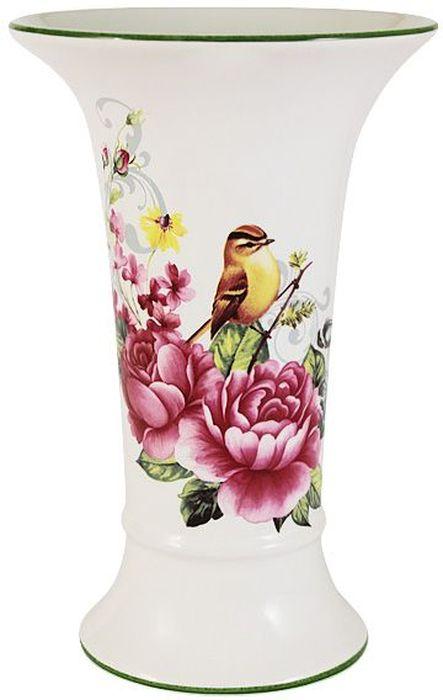 Ваза Imari Цветы и птицы, высота 21,5 смNG92-021M_рубиновыйЭлегантная ваза Imari Цветы и птицы выполнена из высококачественной керамики и оформлена ярким рисунком. Она придется по вкусу и ценителям классики, и тем, кто предпочитает утонченность и изящность. Вы можете поставить вазу в любом месте, где она будет удачно смотреться, и радовать глаз. Такая ваза подойдет и для цветов, и для декора интерьера. Кроме того - это отличный вариант подарка для ваших близких и друзей.Высота вазы: 21,5 см.