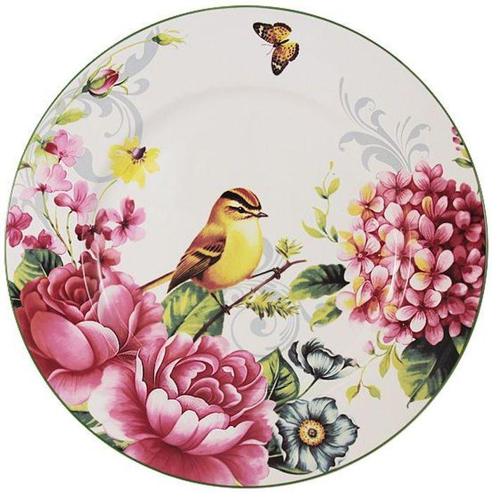 Тарелка обеденная Imari Цветы и птицы, диаметр 27 см115510Тарелка обеденная Imari Цветы и птицы выполнена из высококачественной керамики, основным ингредиентом которой является твердый доломит. Изделие легкое, белоснежное, прочное и устойчивое к высоким температурам. Нанесение сверкающей глазури, не содержащей свинца, придает изделию превосходный блеск и особую прочность. Высокое качество достигается не только благодаря использованию особого сырья, новейших технологий и оборудования, но также благодаря строгому контролю на всех этапах производственного процесса. Тарелка декорирована красочным цветочным изображением. Она оригинально дополнит сервировку стола и станет практичным приобретением для кухни. Высокое качество исходного сырья и глазури позволяет мыть изделие в посудомоечной машине.
