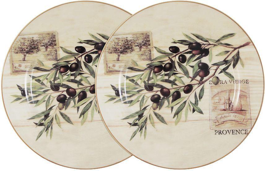 Набор обеденных тарелок LF Ceramic Оливки, диаметр 25 см, 2 шт115510Набор LF Ceramic Оливки состоит из двух обеденных тарелок, изготовленных из высококачественной керамики. Яркий дизайн изделий, несомненно, придется вам по вкусу.Набор LF Ceramic Оливки украсит ваш кухонный стол, а также станет замечательным подарком к любому празднику.Диаметр тарелки: 25 см.