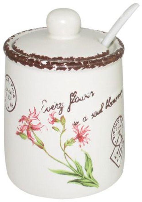 Сахарница LF Ceramic Воспоминания, с ложкой, 175 мл115510Сахарница LF Ceramic Воспоминания с крышкой и ложкой изготовлена из керамики и украшена ярким рисунком.Емкость универсальна, подойдет как для сахара, так и для специй или меда.