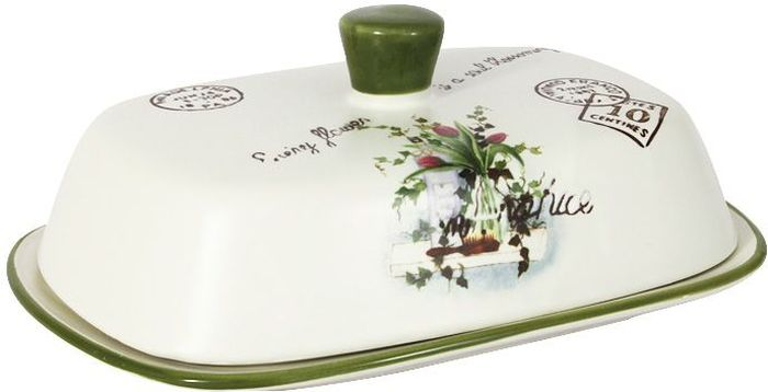 Масленка LF Ceramic Букет115510Великолепная масленка LF Ceramic, выполненная из высококачественной керамики, предназначена для красивой сервировки и хранения масла. Она состоит из подноса и крышки. Масло в ней долго остается свежим, а при хранении в холодильнике не впитывает посторонние запахи. Масленка LF Ceramic идеально подойдет для сервировки стола и станет отличным подарком к любому празднику. Для изготовления посуды LF Ceramic используется экологически чистая керамика, отличительной особенностью которой является прочность. Посуду LF Ceramic можно использовать в микроволновых печах для приготовления блюд, поскольку эта керамика выдерживает высокие температуры. Мыть керамическую посуду рекомендуется теплой водой с небольшим количеством моющих средств. Лучше не использовать абразивные пасты и металлические мочалки. Допускается мытье в посудомоечной машине при соблюдении инструкции изготовителя посудомоечной машины.
