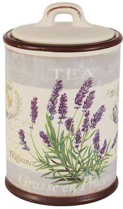 Банка для чая LF Ceramic Лаванда, 700 мл4630003364517Банка для чая LF Ceramic Лаванда выполнена из экологически чистой керамики, отличительной особенностью которой является прочность. Нанесение сверкающей глазури, не содержащей свинца, придает изделию превосходный блеск и особую прочность. Банка прекрасно подходит для хранения чая. Она дольше сохранит аромат и вкус продукта, а также защитит от влаги и грязи. Внешние стенки дополнены красочным цветочным изображением и надписью Tea. Такая банка красиво дополнит интерьер кухни и подчеркнет ваш прекрасный вкус. Можно использовать в микроволновых печах и мыть в посудомоечной машине.Высота: 18 см.