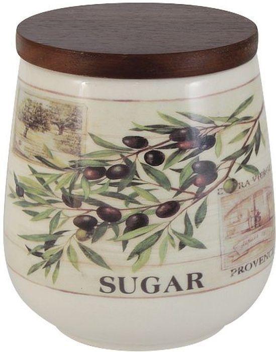 Банка для сахара LF Ceramic Оливки, с крышкой, 700 млFA-5125 WhiteБанка LF Ceramic Оливки выполнена из высококачественной керамики и оформлена ярким рисунком. Изделие идеально подойдет для хранения сахара или других сыпучих продуктов. Емкость легко закрывается крышкой из дерева. Функциональная и вместительная, такая банка станет незаменимым аксессуаром и стильно оформит интерьер кухни. Высота банки: 13 см.