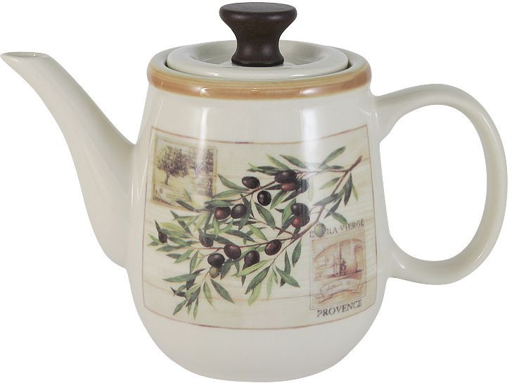Чайник заварочный LF Ceramic Оливки, 1 лVT-1520(SR)Заварочный чайник LF Ceramic Оливки, изготовленный из высококачественной керамики, оформлен ярким рисунком и оснащен удобной ручкой и крышкой. Элегантный чайник поможет заварить ароматный чай и великолепно украсит стол к чаепитию.
