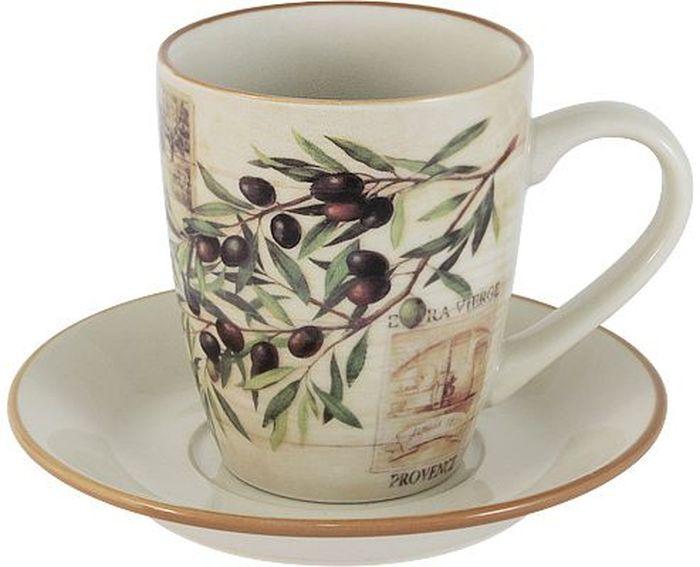 Чайная пара LF Ceramic Оливки. 2 предмета54 009303Чайная пара LF Ceramic Оливки состоит из чашки и блюдца, изготовленных из высококачественной глазурованной керамики. Яркий дизайн изделий, несомненно, придется вам по вкусу.Чайная пара LF Ceramic Оливки украсит ваш кухонный стол, а также станет замечательным подарком к любому празднику.Объем чашки: 200 мл.