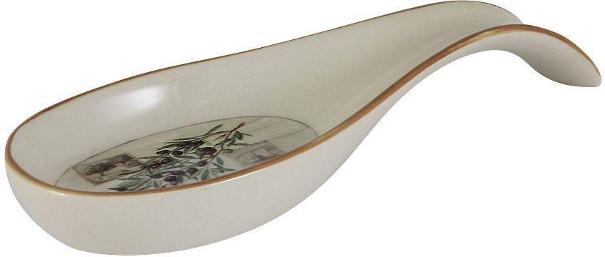 Подставка под ложку LF Ceramic Оливки, длина 22 смМ 1140Подставка под ложку LF Ceramic Оливки изготовлена из высококачественной керамики и декорирована ярким рисунком. Подставка под ложку - очень удобный и полезный аксессуар на вашей кухне. Она поможет поддерживать чистоту на столе во время приготовления пищи. Подставка под ложку LF Ceramic Оливки украсит кухонный стол, а также станет замечательным подарком для ваших друзей и близких.Длина подставки: 22 см.