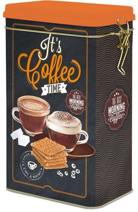 Банка для кофе Nuova R2S, 13 х 8 х 21 смFA-5125 WhiteБанка Nuova R2S, выполненная из металла, станет незаменимым помощником на кухне. В ней будет удобно хранить продукты, такие как кофе. Емкость герметично закрывается крышкой с помощью клипсы. Оригинальный дизайн позволит сделать такую банку отличным подарком на любой праздник.Размер банки: 13 х 8 х 21 см.