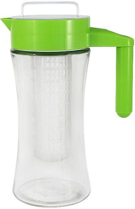 Кувшин SinoGlass, с кассетой, цвет: зеленый, 1 лVT-1520(SR)Кувшин SinoGlass выполнен из высококачественного стекла и пластика. Такой кувшин предназначен для приготовления лимонада. Изделие имеет съемную колбу, которую вы можете выкрутить из крышки и наполнить дольками лимона, клубникой или любыми другими фруктами.SinoGlass - один из крупнейших производителей стеклянной посуды, известной во всем мире.Мировую популярность изделий торговой марки SinoGlass в первую очередь обеспечила группа выдающихся дизайнеров из Европы, Америки и Восточной Азии, работающих на фабрике.Вторым слагаемым успеха данной посуды явился строгий контроль качества на всех этапах производства изделий на самом современном и надежном оборудовании.Все банки и емкости имеют очень удобные крышки и формы, практичны в использовании, легко моются.