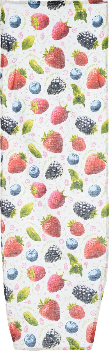 Чехол для гладильной доски Nika Лесные ягоды, универсальный, 129 х 40 смGC204/30Чехол Nika Лесные ягоды, выполненный из 100% хлопка, продлит срок службы вашей гладильной доски. Чехол снабжен стягивающим шнуром, при помощи которого вы легко отрегулируете оптимальное натяжение и зафиксируете чехол на рабочей поверхности гладильной доски. Чехол оформлен красивым рисунком, что оживит внешний вид вашей гладильной доски. Размер чехла: 129 х 40 см. Максимальный размер доски: 125 х 36 см.