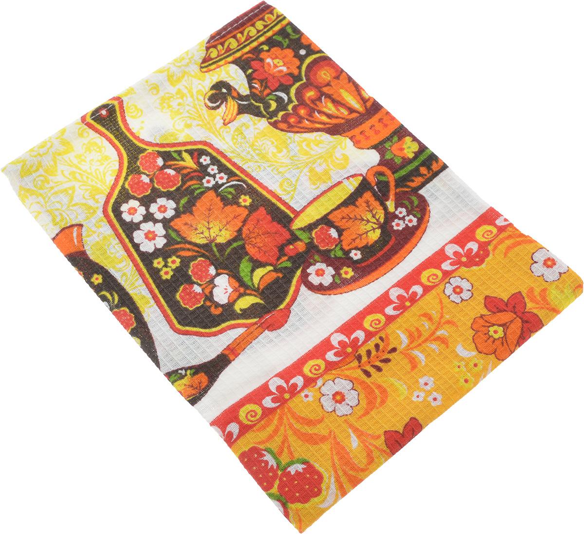 Полотенце кухонное ROKO, 60 х 30 смVT-1520(SR)Кухонное полотенце ROKO, выполненное из 100% хлопка, оформлено оригинальным принтом. Изделие предназначено для использования на кухне и в столовой. Оно отлично впитывает влагу, быстро сохнет, сохраняет яркость цвета и не теряет форму даже после многократных стирок. Такое полотенце станет отличным вариантом для практичной и современной хозяйки.