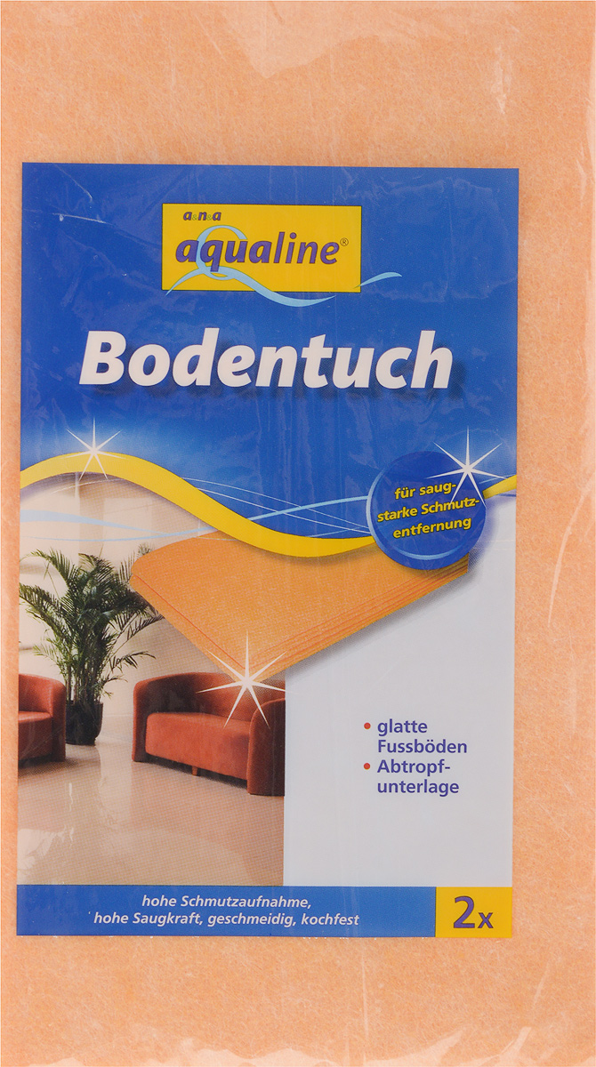 Тряпка для мытья пола Aqualine, впитывающая, 50 х 60 см, 2 штBH-UN0502( R)Мягкая тряпка Aqualine, выполненная из вискозы и полипропилена, отлично подойдет для мытья гладких полов. Она эффективно собирает грязь и влагу, не оставляя разводов. Тряпка обладает высокой впитывающей способностью и легко выжимается. Также она может использоваться в качестве подложки для сушки мокрых изделий. Тряпку можно стирать при температуре до 95°С.