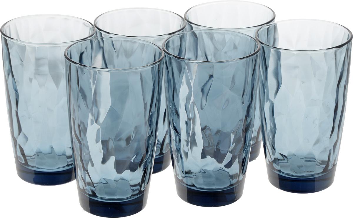 Набор стаканов Bormioli Rocco Даймонд, цвет: синий, 470 мл, 6 штVT-1520(SR)Набор Bormioli Rocco Даймонд выполнен из стекла, состоит из 6 высоких стаканов. Стаканы предназначены для холодных напитков. С внутренней стороны поверхность стаканов рельефная, что создает эффект игры и преломления. Благодаря такому набору пить напитки будет еще вкуснее.СтаканыBormioli Rocco Даймонд станут идеальным украшением праздничного стола и отличным подарком к любому празднику.Объем стакана: 470 мл.Диаметр стакана по верхнему краю: 8,5 см.Высота стакана: 14,5 см.