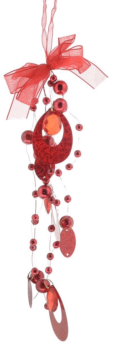 Украшение новогоднее подвесное B&H, цвет: красный, высота 20 смC21-321093Новогоднее подвесное украшение B&H представляет собой подвеску из нитей с бусинками, камнями и кольцами. С помощью ленточки украшение можно повесить в любом понравившемся вам месте. Но, конечно, удачнее всего оно будет смотреться на праздничной елке. Елочная игрушка - символ Нового года. Она несет в себе волшебство и красоту праздника. Создайте в своем доме атмосферу веселья и радости, украшая новогоднюю елку нарядными игрушками, которые будут из года в год накапливать теплоту воспоминаний.