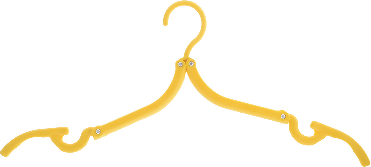 Вешалка Home Queen, складная, цвет: желтый, длина 42 см12723Складная вешалка для одежды Home Queen выполнена из прочного полипропилена. Вешалка снабжена крючками для юбок и брюк. Она складывается и раскладывается, поэтому ее удобно брать с собой в поездки. Вешалка - это незаменимая вещь для того, чтобы ваша одежда всегда оставалась в хорошем состоянии.Размер вешалки (в сложенном виде): 13 х 8 х 1,5 см. Размер вешалки (в разложенном виде): 42 х 17,5 см.