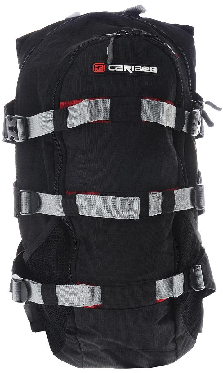 Рюкзак городской Caribee Stratos XL, цвет: черный, бордовый, 18 лRivaCase 8460 aquamarineРюкзак Caribee Stratos XL предназначен для повседневного использования, занятий спортом, велопрогулок или городских прогулок по свежему воздуху. Изделие выполнено из высококачественного полиэстера и имеет одно основное отделение, закрывающееся на застежку-молнию. Внутри него расположен нашивной карман на резинке и карман с сетчатой вставкой на молнии, а также имеется пластиковый карабин, петля на липучке и отверстие для провода MP3-плеера или телефона.Снаружи, на передней стенке расположен карман на застежке-молнии со встроенным органайзером для мелочей и нашивным карманом с сетчатой вставкой на молнии. По бокам имеются два сетчатых кармана для бутылок.Наличие набедренного пояса и нагрудной стяжки позволит держать рюкзак максимально прижатым к спине, совершая велопрогулки.Анатомическая форма спинки и плечевых лямок с мягкой пенополиуретановой подкладкой, обшита дышащей сетчатой тканью, непременно позволит вам чувствовать себя комфортно при эксплуатации данного рюкзака.