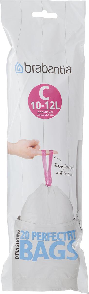 Пакеты для мусора Brabantia, 10-12 л, 20 шт245343Одноразовые пакеты Brabantia, выполненные из особо прочного полиэтилена (HDPE), предназначены для мусорного бака. Удобны в использовании, быстро и аккуратно вкладываются и достаются из бака. Затяжная лента позволяет легко сменить пакет для мусора: просто потяните за ленту, она аккуратно запечатает горловину мешка и превратится в крепкие ручки. Пакеты имеют универсальный размер и подходят для баков от 10 л до 12 л. Пакеты специально изготовлены для Brabantia - при закрытой крышке мусорного бака пакеты не видны. Цветовая маркировка с внутренней стороны крышки вашего мусорного бака поможет точно подобрать нужный размер.