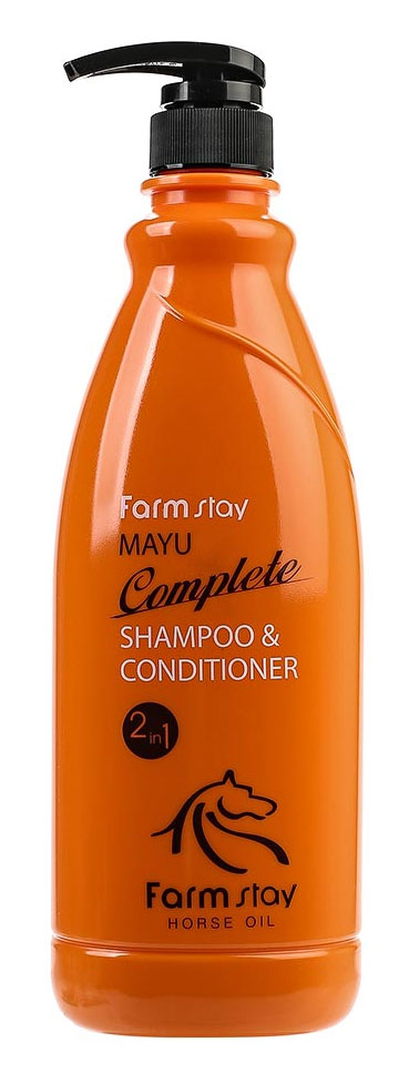 FarmStayПитательный шампунь-кондиционер с лошадиным маслом, 1000 мл4751006752399Шампунь + кондиционер с лошадиным маслом предназначен специально для улучшения состояний безжизненных, тусклых волос. Шампунь питает и восстанавливает слабые волосы, делает их сильными, крепкими и шелковистыми. Бальзам, включенный в состав шампуня, смягчает и увлажняет волосы, облегчает расчесывание, лечит секущиеся кончики. Животный жир богат незаменимыми жирными кислотами (например, в нем содержится альфа-липоевая и линолевая кислоты, а также витамин А и Е). Лошадиное масло особенно ценится тем, что оно лучше других жиров усваивается волосами, так как имеет состав, схожий с человеческой жировой секрецией. Именно поэтому данное вещество не отторгается организмом. Уже после первых применений шампуня вы заметите, что волосы заблестели, стали более здоровыми, упругими и живыми.