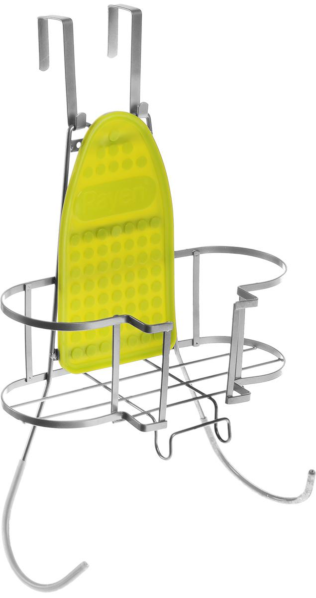 Подвес для гладильной доски и утюга RayenGC220/05Подвес для гладильной доски и утюга Rayen - отличная вещь для тек, кто любит порядок, создает максимально удобное место для хранения гладильных принадлежностей. Подвес состоит из панели для крепления к стене, держателя для утюга и держателя для гладильной доски, крепится к стене (крепежные элементы в комплекте) в удобном для вас месте и на удобной для вас высоте. На подвес допускается установка утюга с горячей подошвойи предусмотрено крепление для электрического провода утюга.