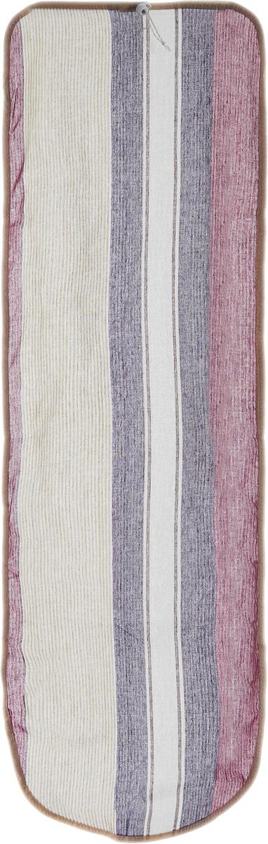Чехол для гладильной доски Eva Detalle, цвет: фиолетовый, фуксия, 120 см х 37 смGC220/05Чехол для гладильной доски Eva Detalle, выполненный из хлопка с подкладкой из мягкого войлока, предназначен для защиты или замены изношенного покрытия гладильной доски. Из войлочного полотна вы можете вырезать подкладку любого размера, подходящую именно для вашей доски. Чехол препятствует образованию блеска и отпечатков металлической сетки гладильной доски на одежде. Этот качественный чехол обеспечит вам легкое глажение. Размер чехла: 120 см x 37 см. Размер войлочного полотна: 130 см х 52 см. Размер доски, для которой предназначен чехол: 115 см x 32 см.