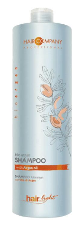 Hair Company Шампунь для волос с био маслом Арганы Professional Light Bio Argan Shampoo 1000 мл827Специальный шампунь линии bio argan. Разработан для борьбы с ломкостью и обезвоживанием повреждённых и окрашенных волос. В составе формулы масла Арганы.Особенности продукта:Увлажняет и делает цвет окрашенных волос более насыщенным, живым и стойким.Обогащён ненасыщенными кислотами и витамином ЕПитает и ухаживает по всей длине волосРезультат применения – более насыщенный цвет, защита и увлажнение повреждённых, окрашенных волос
