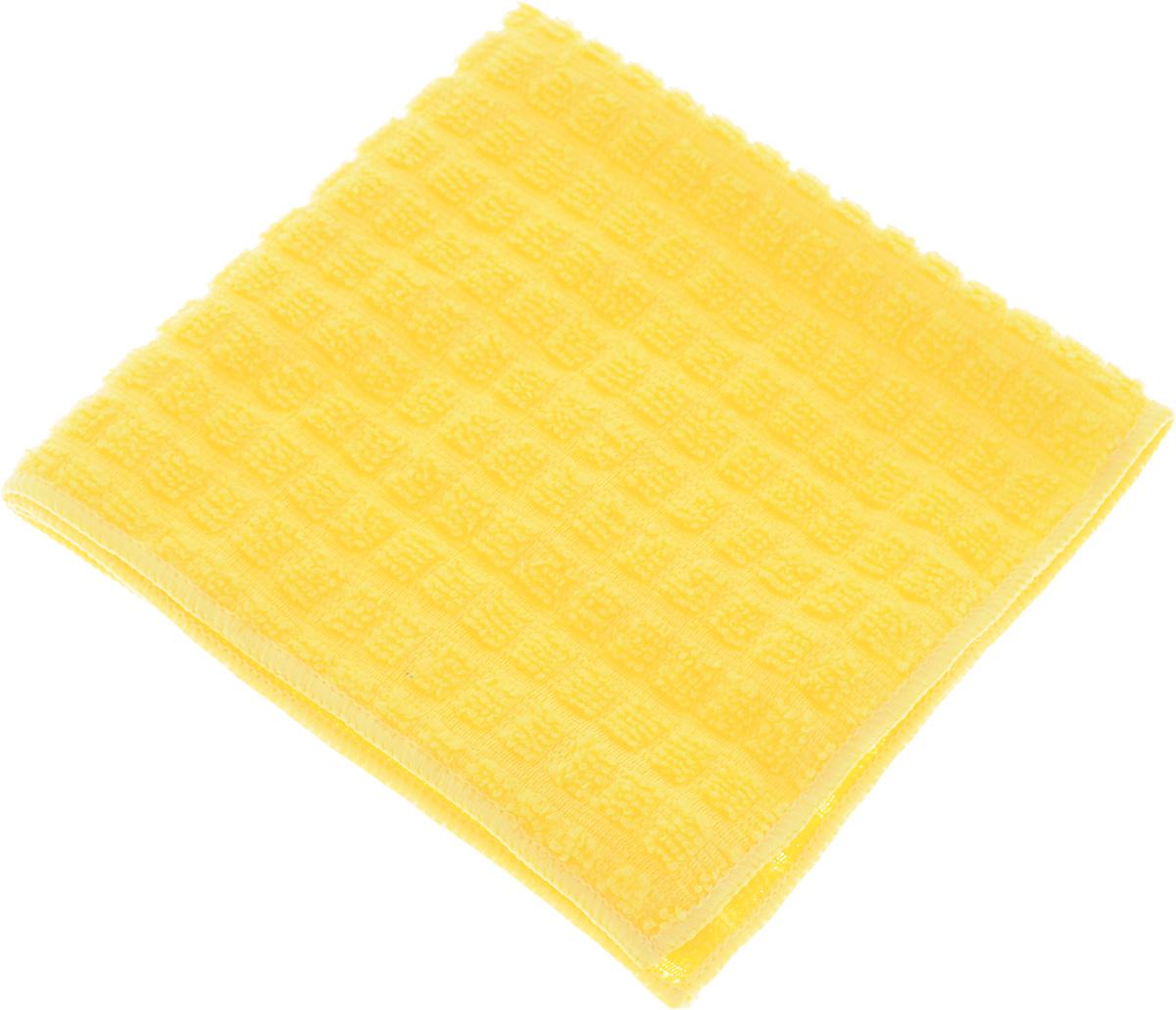 Салфетка Sol Crystal, из микрофибры, быстросохнущая, цвет: желтый, 30 x 30 смSVC-300Салфетка Sol Crystal выполнена из микрофибры для деликатной чистки и полировки лакированных, глянцевых и хромированных поверхностей, а также стекол и зеркал. Салфетку можно эффективно применять как во влажном, так и в сухом виде. Специальное плетение ворса обеспечивает быстрое высыхание салфетки. Можно применять различные моющие средства. Не оставляет разводов и ворсинок.Можно стирать вручную или в стиральной машине с мягким моющим средством без использования кондиционера и отбеливателя, при температуре не выше 95°С. Запрещается кипячение и глажка. Рекомендована бережная сушка.