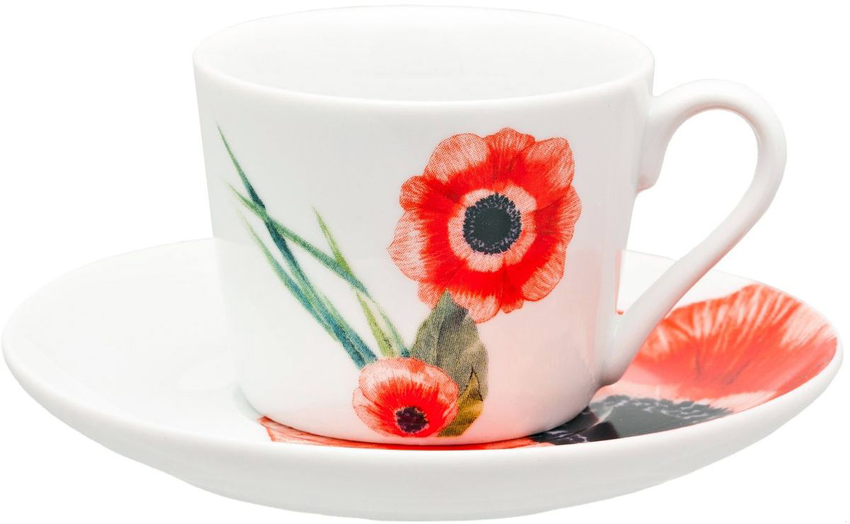 Чайный набор Domenik Blooming, цвет: белый, красный, 12 предметов. DM9154VT-1520(SR)Чайный набор Domenik Blooming из 12 предметов порадует не только вас, но и ваших гостей. Он изготовлен из высококачественного фарфора, обеспечивающего неограниченный срок эксплуатации. Благодаря привлекательному внешнему виду посуда с легкостью украсит любой интерьер кухни. Она неприхотлива в использовании, ее можно мыть в посудомоечной машине, а также использовать в микроволновой печи. Данная модель выполнена в белом цвете и украшена изысканным рисунком в виде маковых цветов с зелеными листьями. Комплектация:Чашка на 250 мл - 6 шт. Блюдце - 6 шт.