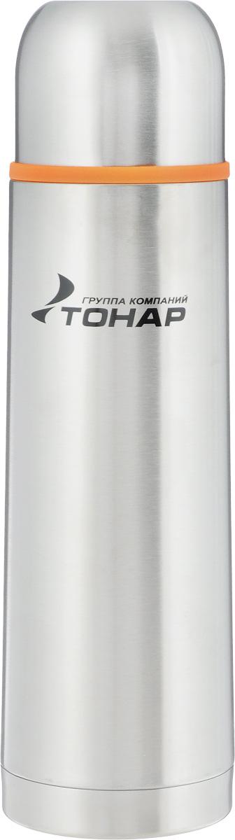 Термос Тонар HS TM-014, 500 мл115510Термос Тонар HS TM-014 выполнен из нержавеющей стали и оснащен двойными стенками с вакуумной изоляцией, которая позволяет сохранять напитки горячими или холодными длительное время. Корпус покрыт защитным прозрачным лаком. Термос отлично сохраняет температуру, свежесть напитка и его оригинальный вкус. Дополнительная теплоизоляция внутри пробки. Пробка без кнопки надежно закрывает колбу и проста в использовании. Крышка может послужить вместительной чашкой, также в комплект входит инструкция по эксплуатации. Термос сохраняет тепло до 12 часов и удерживает холод до 24 часов.Диаметр горлышка: 4,5 см.Диаметр основания: 6,8 см.Высота (с учетом крышки): 24,5 см.Размер крышки-чашки: 6,5 х 6,5 х 5,5 см..