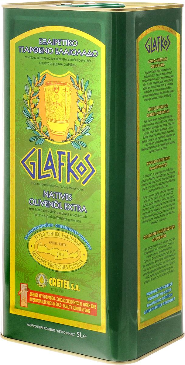Glafkos Extra Virgin масло оливковое, 5 л0120710Оливковое масло Glafkos Extra Virgin - получено путем первого холодного механического отжима, благодаря чему масло сохранило все полезные витамины и минеральные вещества, содержащиеся в оливках, оно произведено исключительно из оливок отборного качества сорта Коронейки, плоды внимательно и бережно собраны на южном побережье острова Крит в районе Мессара (Греция), который является одним из наиболее благоприятных мест на планете для выращивания оливок. Масло имеет насыщенный мягкий вкус олив, слегка горьковатое послевкусие, приятный пряный аромат и яркий золотисто-зеленый цвет, относится к классу Extra Virgin и является абсолютно натуральным продуктом. Не содержит никаких примесей и добавок. Продукт становится мутным при низкой температуре, что не влияет на качество оливкового масла. Один из главных показателей качества оливкового масла - кислотность, в оливковом масле Glafkos Extra Virgin не превышает 0,8%.