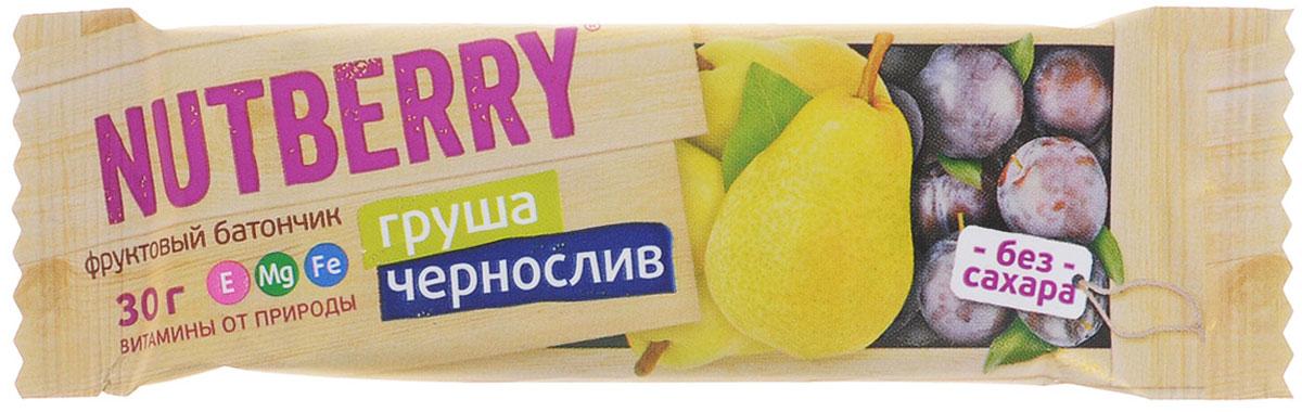 Nutberry Витафрут батончикфруктовыйс грушей и черносливом,30 г4620000677994Фруктовый батончик Nutberry Витафрут. Груша с черносливом - полезный и натуральный снек. Сладкая сочная груша и ароматный чернослив вместе дают неповторимый вкус блаженства. С батончиком Nutberry Груша и чернослив вы попадаете в сладкую сказку, где волшебные обволакивающие запахи фруктов так и манят съесть еще один батончик.Фруктовые батончики Nutberry - натурально, вкусно, с заботой о вас. Груша и чернослив справится с голодом в два счета. Любой перекус станет и вкусным и полезным. С утренним кофе, с обеденным чаем, со свежевыжатым соком фруктовый батончик станет незаменимым составляющим вашего рациона.Nutberry изготавливаются только из натуральных спрессованных фруктов и содержат естественные фруктовые сахара! При производстве в продукт не добавляются фруктоза, сахар и другие сахаросодержащие продукты. Эти фруктовые батончики абсолютно безопасны, не содержат ароматизаторов и красителей.