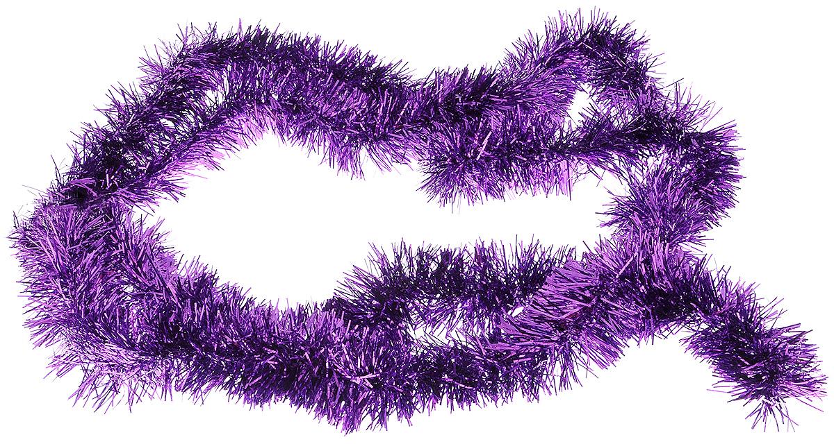 Мишура новогодняя House & Holder, цвет: фиолетовый, диаметр 4 см, длина 200 смC0038550Мишура новогодняя House & Holder поможет вам украсить свой дом к предстоящим праздникам. Мишура армирована, то есть имеет проволоку внутри и способна сохранять приданную ей форму.Новогодняя елка с таким украшением станет еще наряднее. Новогодней мишурой можно украсить все, что угодно - елку, квартиру, дачу, офис - как внутри, так и снаружи. Можно сложить новогодние поздравления, буквы и цифры, мишурой можно украсить и дополнить гирлянды, можно выделить дверные колонны, оплести дверные проемы.