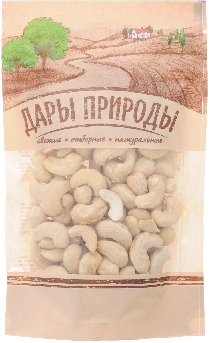 Дары природы кешью, 150 гU920968Ядра орехов кешью не подвергаются дополнительной термической обработке с целью максимального сохранения всех их полезных свойств. Отборные ядра белого кешью крупного калибра (320 ядер в фунте).Все плоды проходят обязательную калибровку, сортировку и переборку. Использование лучших сортов сырья, бережная двухэтапная обжарка орехов, полное отсутствие усилителей вкуса и ароматизаторов - все это гарантирует великолепный вкус предлагаемого продукта.