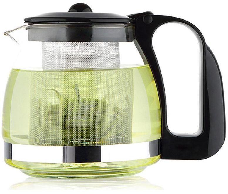 Чайник заварочный Wellberg, 1,25 л. 6879 WB68/5/4Чайник заварочный Wellberg предназначен для заваривания чая и трав. Корпус изготовлен из жаропрочного стекла с элементами из пластика. Чайник оснащен съемным ситечком и крышкой.Чайник Wellberg - качественное исполнение и стильное решение для вашей кухни.