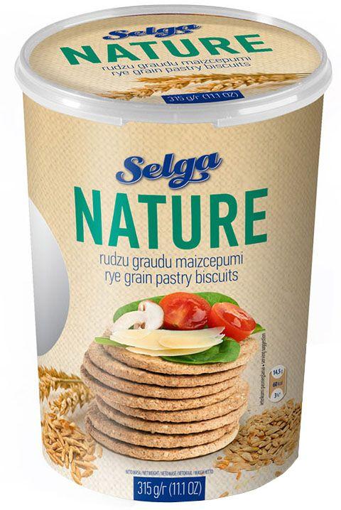 Selga Nature Ржаное хлебное печенье, 315 г0120710Хлебное печенье из ржаной муки.
