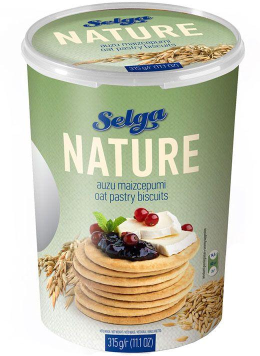 Selga Nature Овсяное хлебное печенье, 315 г0120710Хлебное печенье из овсяной муки.