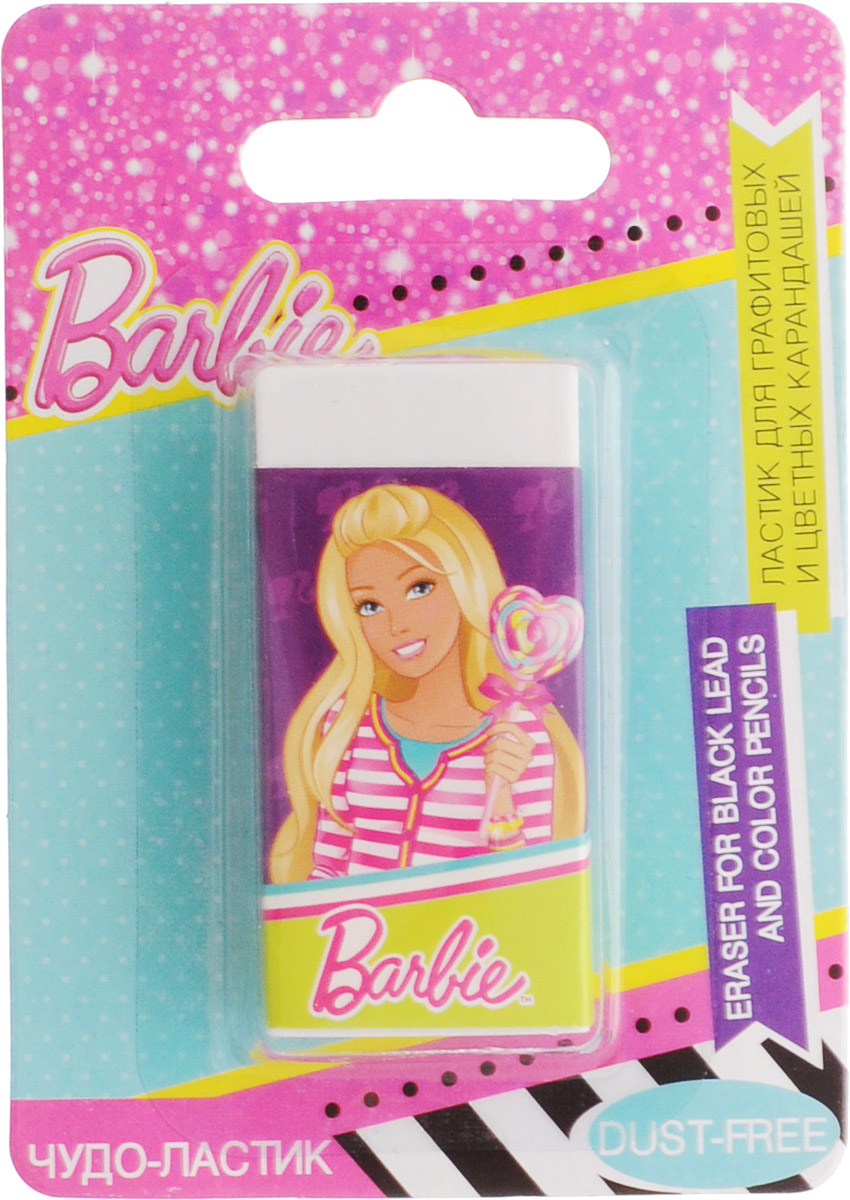 Barbie Ластик72523WDЛастик для графитовых и цветных карандашей Barbie станет незаменимым атрибутом в учебе любой юной школьницы.Ластик выполнен из качественной резины и оформлен изображением очаровательной куклы Barbie.Не рекомендуется детям до 3-х лет.