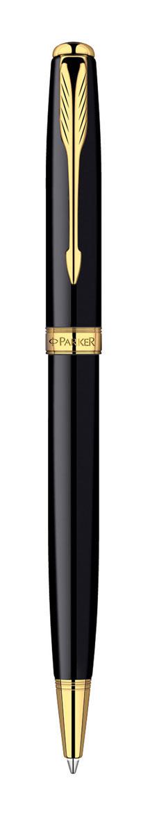Parker Ручка шариковая Sonnet Black GT цвет чернил черныйPARKER-S0808730Шариковая ручка Parker Sonnet Black GT с поворотным механизмом - это гарант вашего неповторимого стиля и элегантности. Ручка заправлена стержнем с черными чернилами. Корпус ручки выполнен из ювелирной латуни с многослойным лаковым покрытием и позолотой. Оригинальная гравировка Parker. Толщина линии - средняя. Шариковая ручка упакована в фирменную коробку с логотипом компании Parker. В коробке предусмотрено дополнительное отделение, в котором расположен международный гарантийный талон.Эксклюзивная ручка Parker Sonnet Black GT подчеркнет стиль и элегантность ее владельца и станет превосходным подарком ценителю изящества и роскоши.Ручка - это не просто пишущий инструмент, это - часть имиджа, наглядно демонстрирующая статус, характер и образ жизни ее владельца.