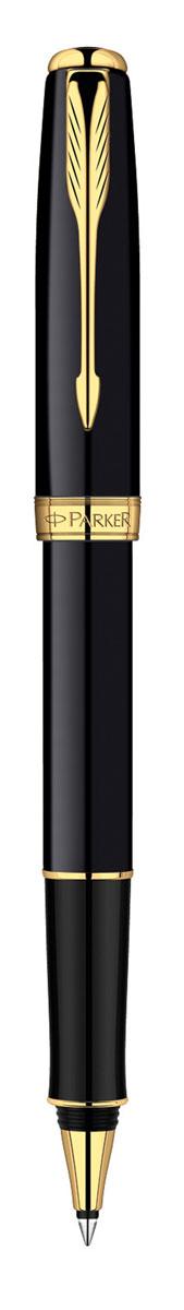 Parker Ручка-роллер Sonnet Black GT730396Ручка-роллер Parker Sonnet Black GT - идеальный инструмент для письма. Материал ручки - ювелирная латунь с покрытием лаком черного цвета, в отделке применяется позолота 23К. В ручке используются стандартные стержни-роллеры Parker, в комплект поставки входит один стержень черного цвета. Данный пишущий инструмент поставляется в фирменной подарочной коробке премиум-класса, что делает его превосходным подарком. В комплекте также идет гарантийный талон с международной гарантией на 2 года. Произведено во Франции.