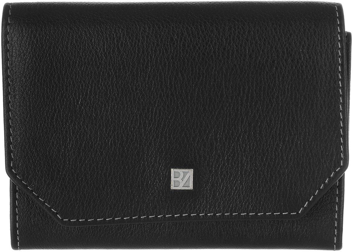 Кошелек женский Bodenschatz, цвет: черный. 8-958ERJAA03224-WBT0Женский кошелек Bodenschatz выполнен из натуральной высококачественной кожи. Изделие закрывается клапаном на застежку-кнопку. Внутри располагаются два кармана, карман для мелочи, два отделения для купюр, снаружи на задней стенке - маленький кармашек.
