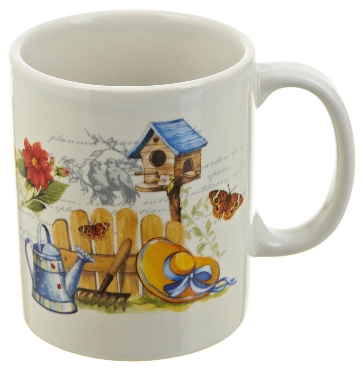Кружка ENS Group Сад, 310 мл. 066003754 009312Кружка Сад выполнена из высококачественной керамики. Снаружи она декорирована ярким рисунком.Кружка сочетает в себе оригинальный дизайн и функциональность. Благодаря такой кружке пить напитки будет еще вкуснее. Может послужить отличным подарком родным и близким!Можно мыть в посудомоечной машине.