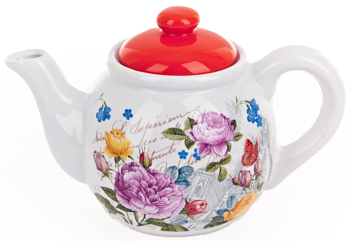 Чайник заварочный ENS Group Лето в Европе, 1 лVT-1520(SR)Заварочный чайник Лето в Европе, изготовленный из высококачественной керамики, прекрасно впишется в интерьер вашей кухни и станет достойным дополнением к кухонному инвентарю. Изделие снабжено эргономичной крышкой и удобной ручкой. Такой чайник не только украсит ваш кухонный стол и подчеркнет прекрасный вкус хозяйки, но и станет отличным подарком.Можно мыть в посудомоечной машине.