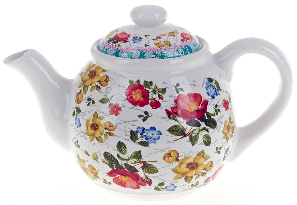 Чайник заварочный ENS Group Цветочная поэма, 1 л115510Заварочный чайник Цветочная поэма, изготовленный из высококачественной керамики, прекрасно впишется в интерьер вашей кухни и станет достойным дополнением к кухонному инвентарю. Изделие снабжено эргономичной крышкой и удобной ручкой. Такой чайник не только украсит ваш кухонный стол и подчеркнет прекрасный вкус хозяйки, но и станет отличным подарком. Можно мыть в посудомоечной машине.