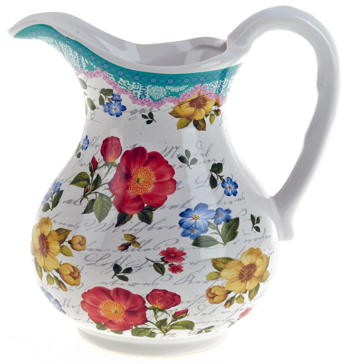 Кувшин ENS Group Цветочная поэма, 1 лVT-1520(SR)Кувшин Цветочная поэма изготовлен из высококачественной керамики с изящным рисунком. Кувшин оснащен удобной ручкой. Прекрасно подходит для подачи воды, сока, компота и других напитков. Изящный кувшин красиво оформит стол и порадует вас элегантным дизайном и простотой ухода.
