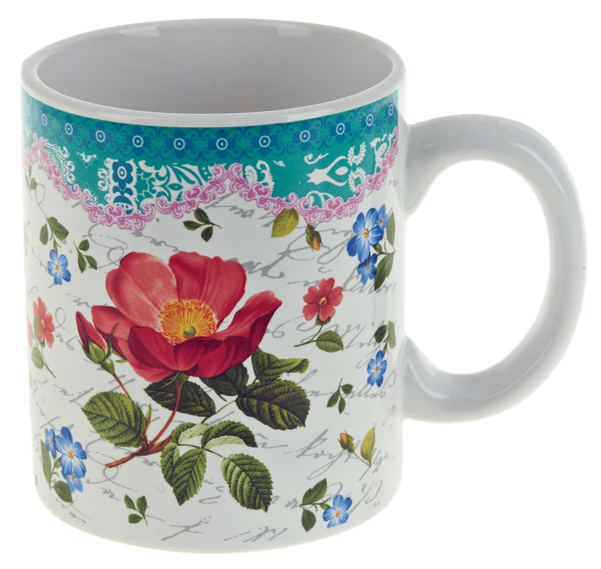Кружка ENS Group Цветочная поэма, 400 мл. 0660119115510Кружка Цветочная поэма выполнена из высококачественной керамики и декорирована изображением розы и надписями.Кружка сочетает в себе оригинальный дизайн и функциональность. Благодаря такой кружке пить напитки будет еще вкуснее. Кружка упакована в подарочную упаковку и может послужить отличным подарком родным и близким!