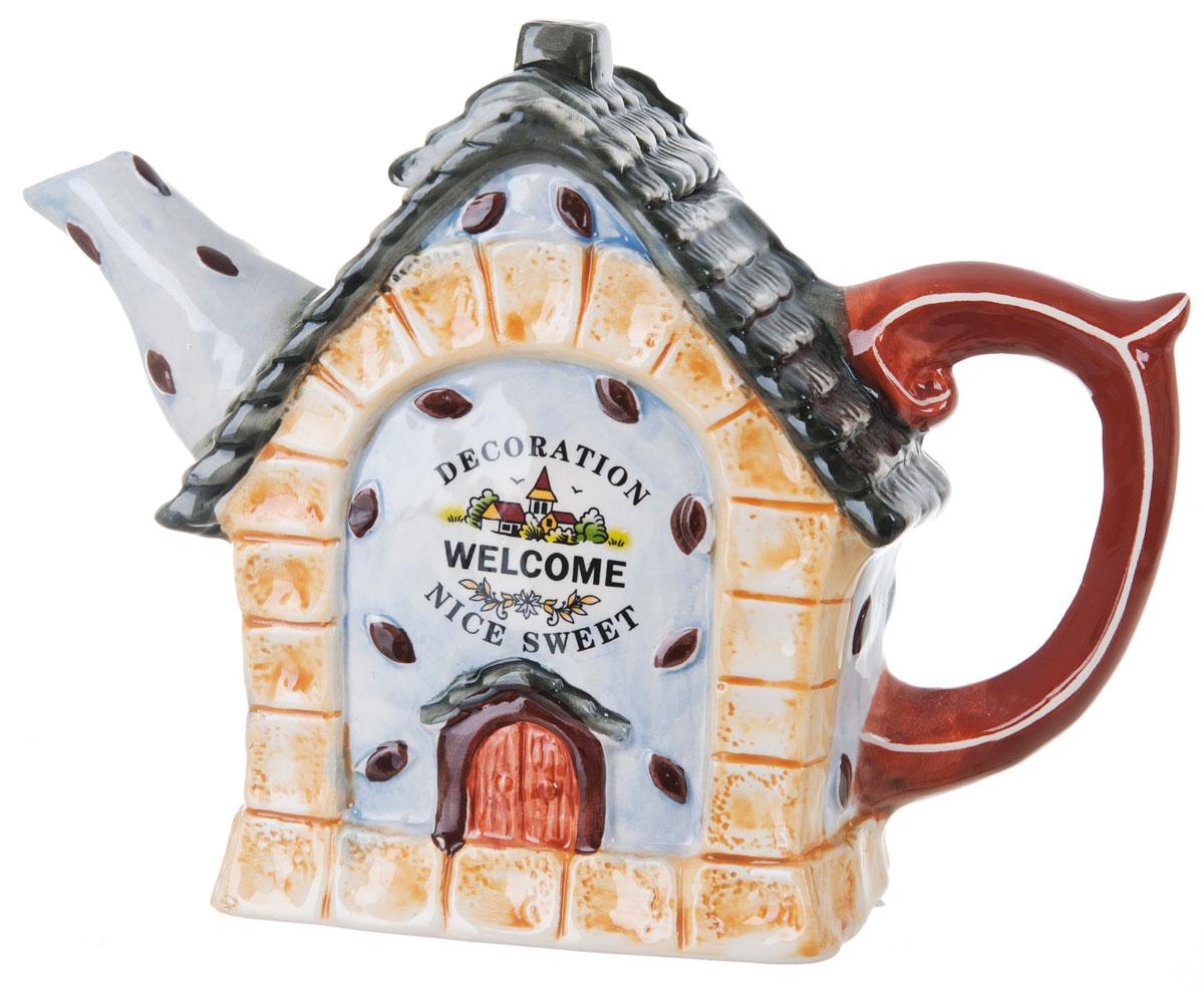 Чайник заварочный ENS Group Дом, милый дом, 1,3 л391602Этот великолепный чайник, выполненный из керамики, станет настоящим украшением любого стола. Послужит отличным подарком.Можно мыть в посудомоечной машине.