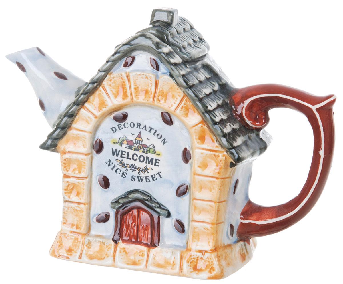 Чайник заварочный ENS Group Дом, милый дом, 450 мл391602Этот великолепный чайник, выполненный из керамики, станет настоящим украшением любого стола. Послужит отличным подарком.Можно мыть в посудомоечной машине.