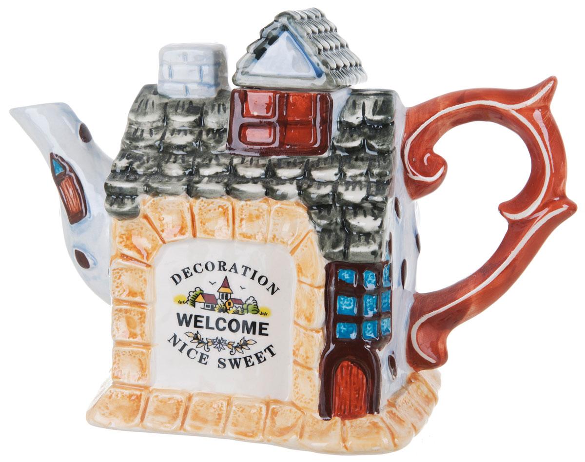 Чайник заварочный ENS Group Дом, милый дом, 1,1 л115510Этот великолепный чайник, выполненный из керамики, станет настоящим украшением любого стола. Послужит отличный подарком! Можно мыть в посудомоечной машине.