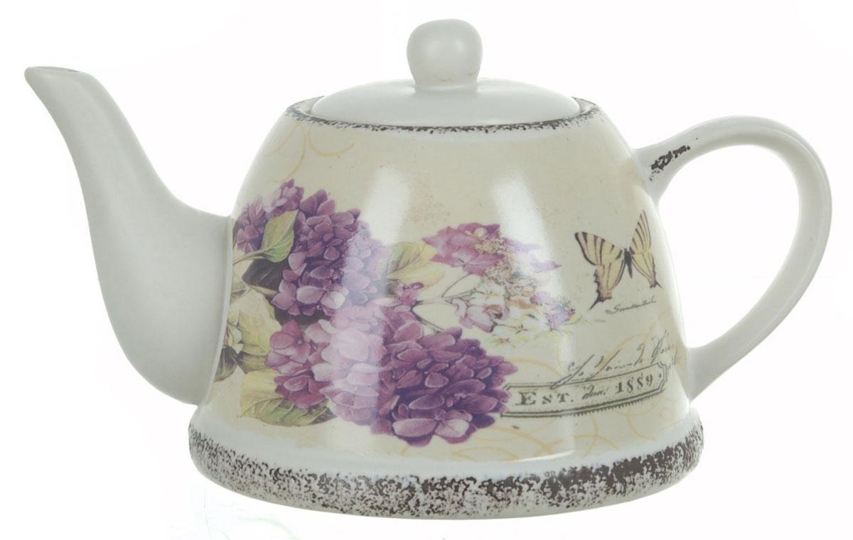 Чайник заварочный ENS Group Гортензия, 1 л115510Заварочный чайник Гортензия, изготовленный из высококачественной керамики, прекрасно впишется в интерьер вашей кухни и станет достойным дополнением к кухонному инвентарю. Изделие снабжено эргономичной крышкой и удобной ручкой. Такой чайник не только украсит ваш кухонный стол и подчеркнет прекрасный вкус хозяйки, но и станет отличным подарком.Можно мыть в посудомоечной машине.