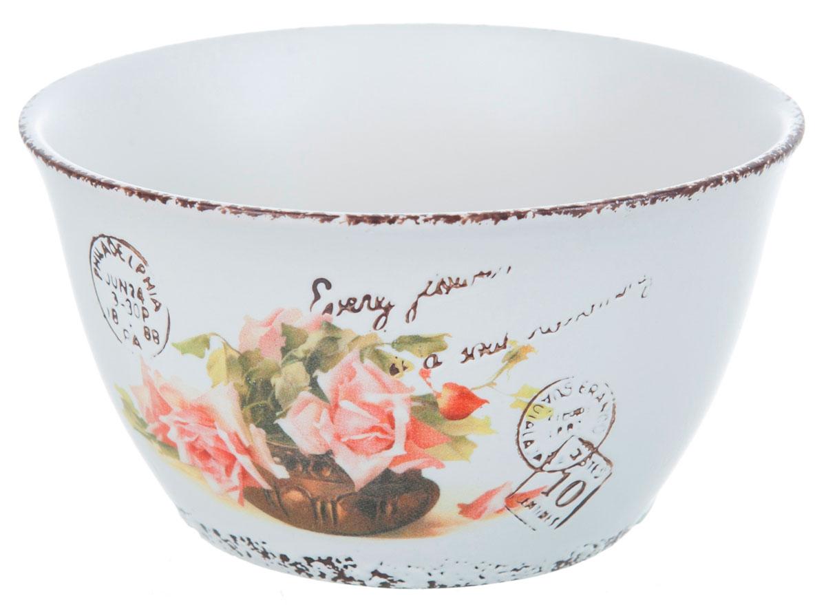 Салатник ENS Group Чайная роза, 400 мл, диаметр 12 см115510Салатник Чайная роза изготовлен из керамики. Салатник прекрасно подходит для сервировки салатов, фруктов, ягод и других продуктов. Яркий дизайн стильно украсит стол. Идеальный вариант для ежедневного использования. Можно мыть в посудомоечной машине.