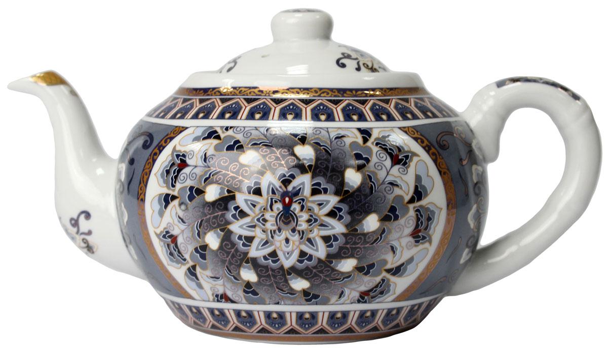 Чайник Узоры, 1000 мл. 821380VT-1520(SR)Чайник Узоры 1 л. станет незаменимым атрибутом чаепития и послужит не только приятным подарком, но и практичным сувениром. Упакован в красивую подарочную коробку.